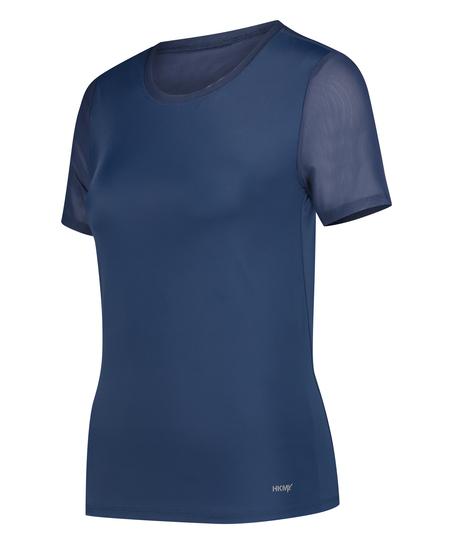 HKMX Sport Shirt Open Rug, Blauw