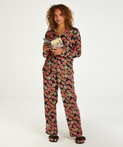 Pantalon de pyjama tissé, Bleu