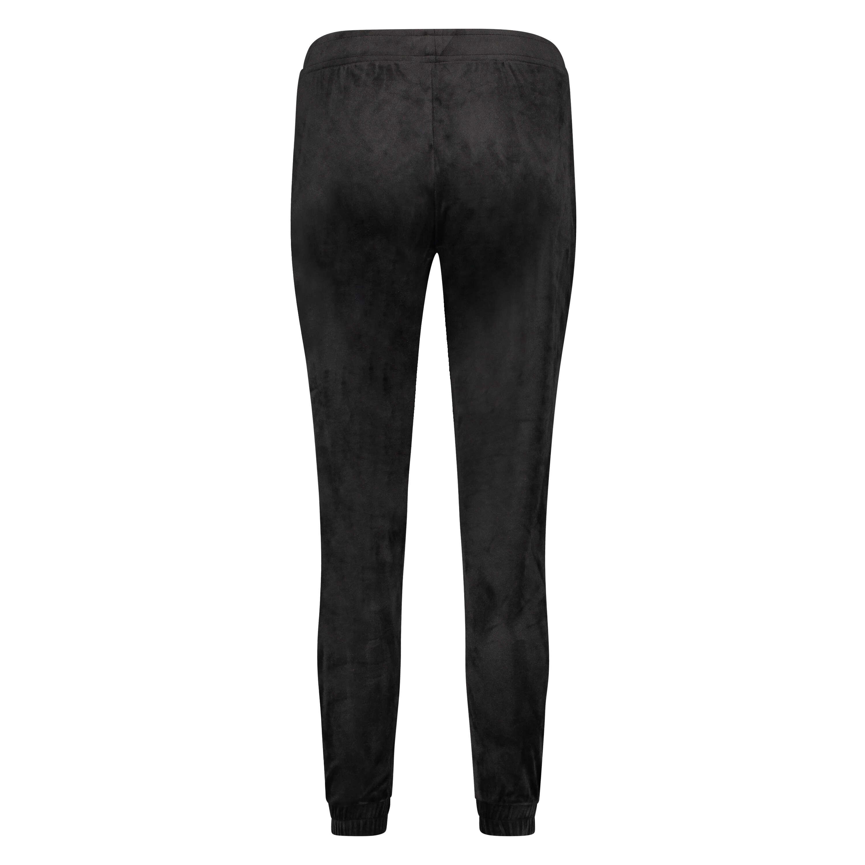Pantalon de jogging Velours Lurex, Noir, main
