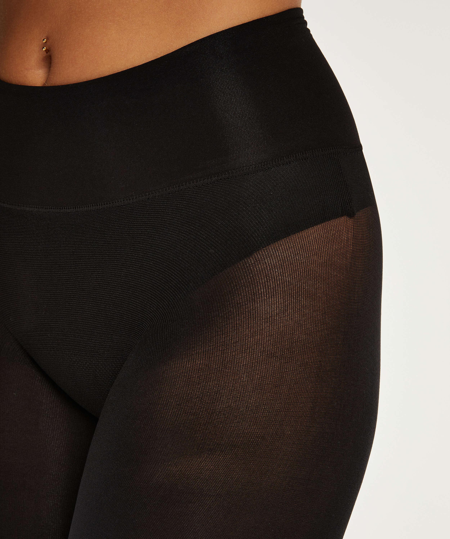 Panty 40 Denier Naadloos Velvet Touch, Zwart, main