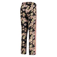Pantalon de pyjama satiné Emily, Noir
