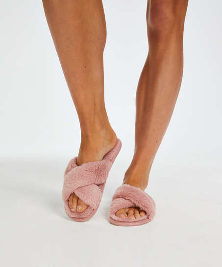 Slippers Velours, Roze