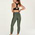 HKMX High waisted sport legging Shine On, Groen