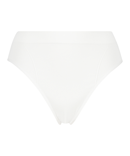 Slip brésilien taille haute Bae, Blanc