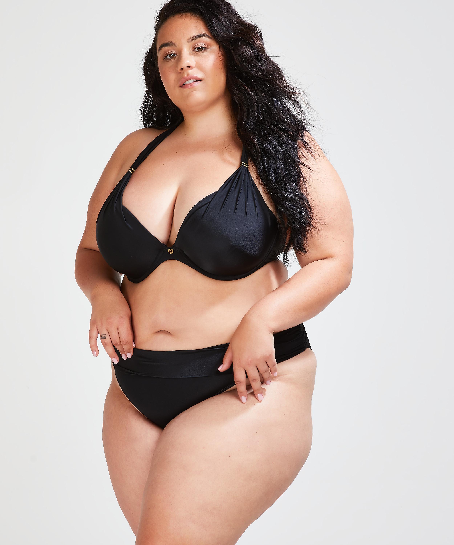 Fold over Bikinislip Sunset Dream, Zwart, main