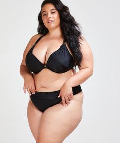 Slip de bikini à rabat Dream, Noir