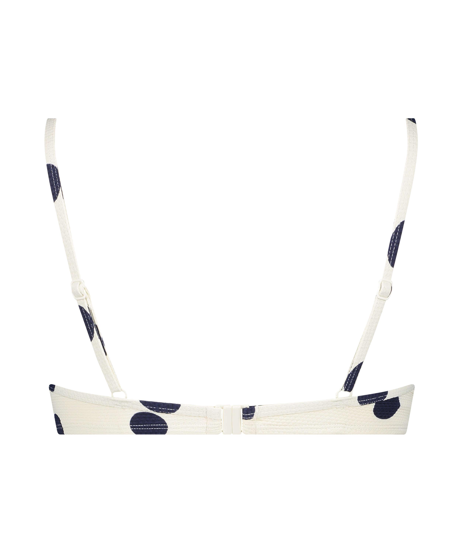 Voorgevormde beugel bikinitop Scallop Dot, Wit, main
