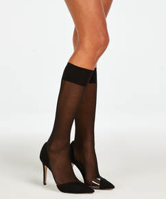 2 paires de chaussettes hautes, Noir