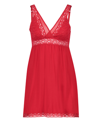 Nuisette  Jersey Grafic Lace, Rouge