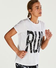 T-shirt de sport HKMX manches courtes, Blanc
