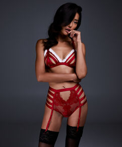 Slip taille haute ouvert Wendy, Rouge