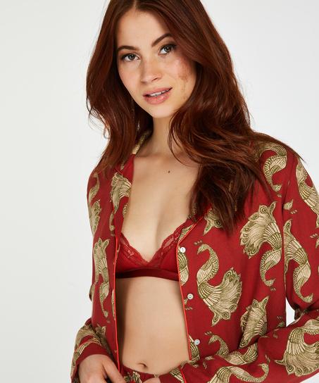 Haut de pyjama à manches longues Dragonfly, Rose