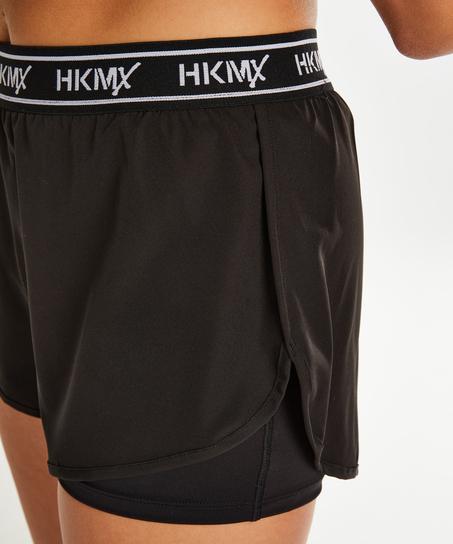 Short de sport HKMX, Noir