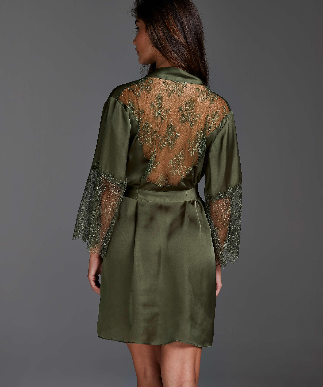 Kimono Satijn Lily, Groen, main