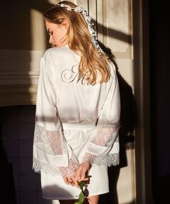 Kimono satin Bridal, Blanc