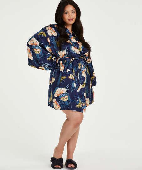 Kimono Lotus Bird, Blauw