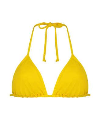 Haut de bikini triangle Napa, Jaune