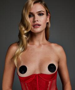 Private Nipple Cover Fake Fur, Noir
