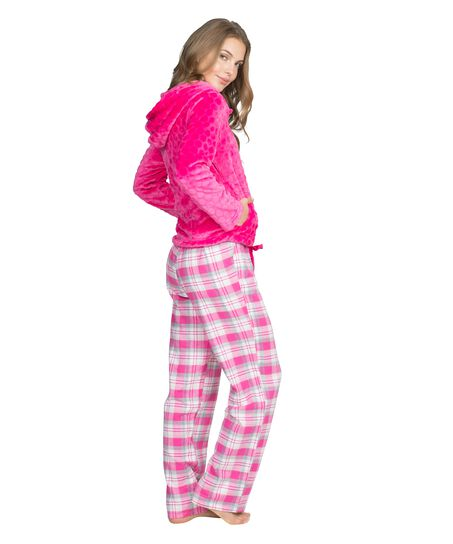 Pyjama pants Teddy check, Rose