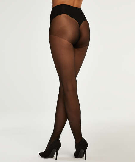 Panty 20 Denier naadloos, Zwart
