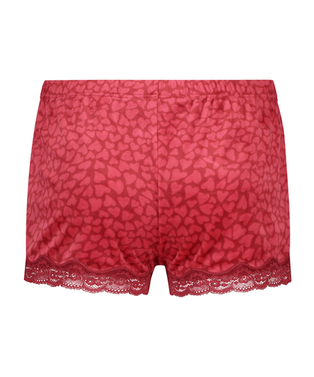 Shorts Velours Lace, Rood