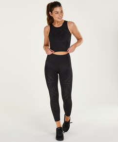 HKMX High waisted cropped sportlegging Naira, Zwart