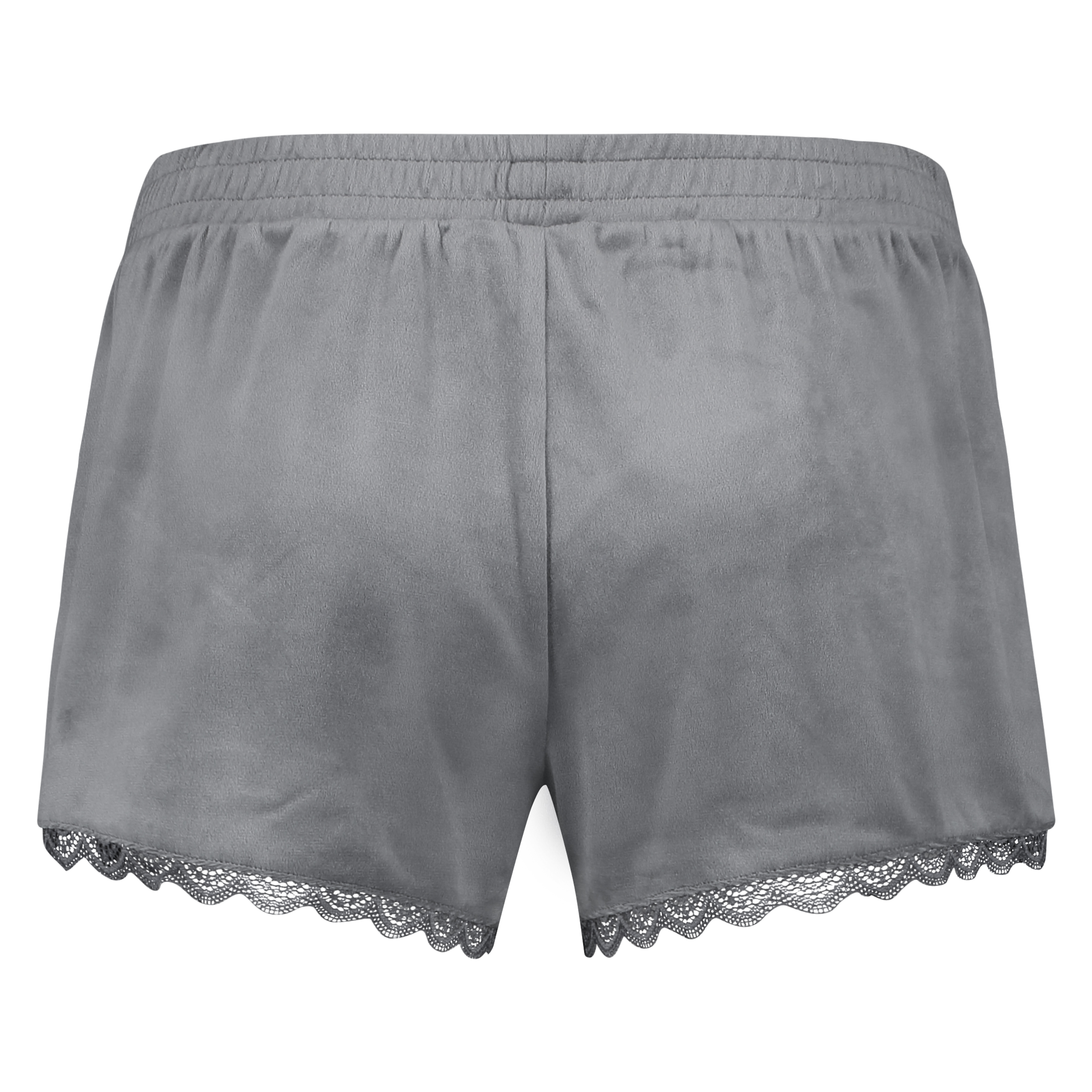 Pyjama short velours, Grijs, main