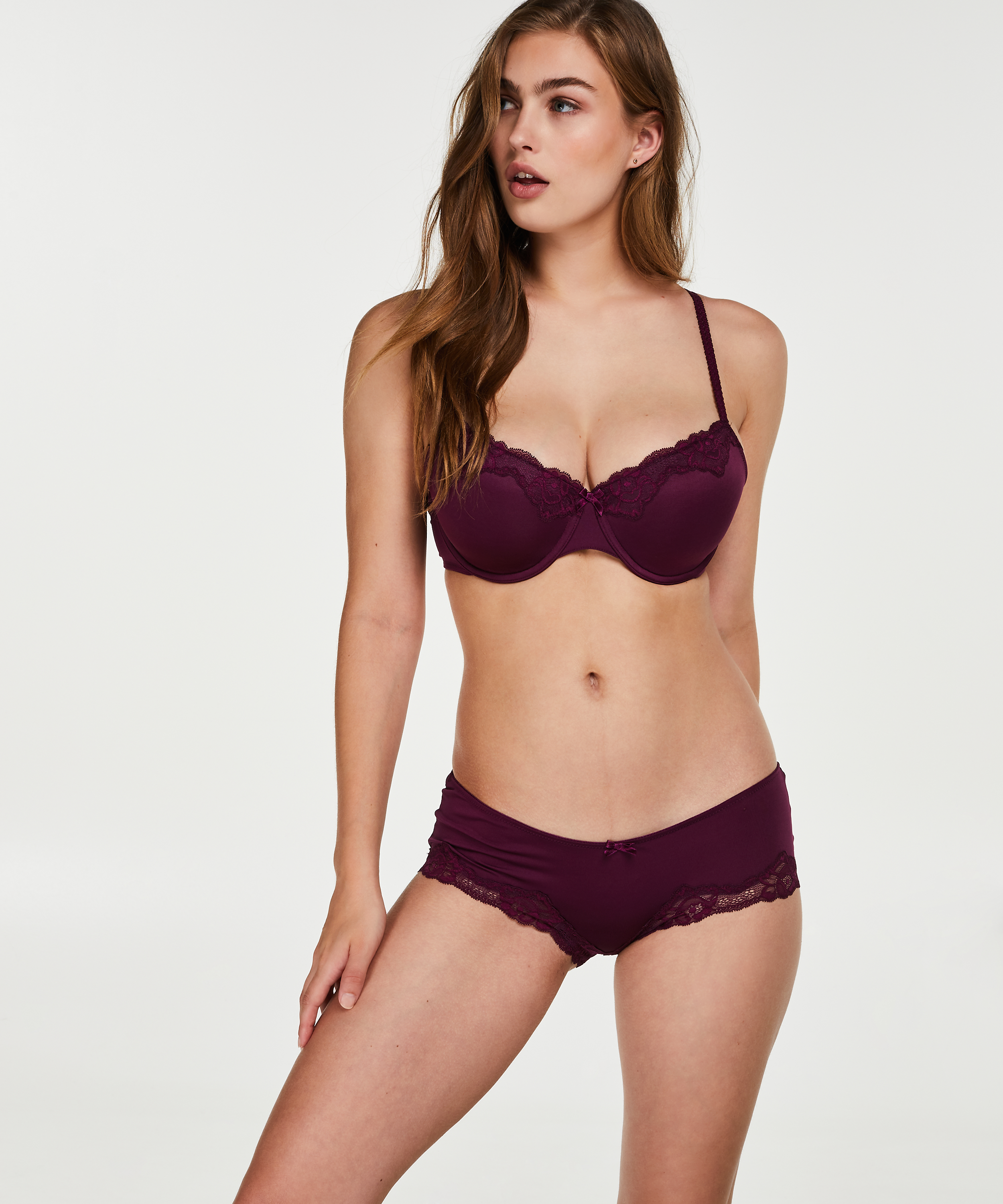 Boxer Secret lace, Paars, main