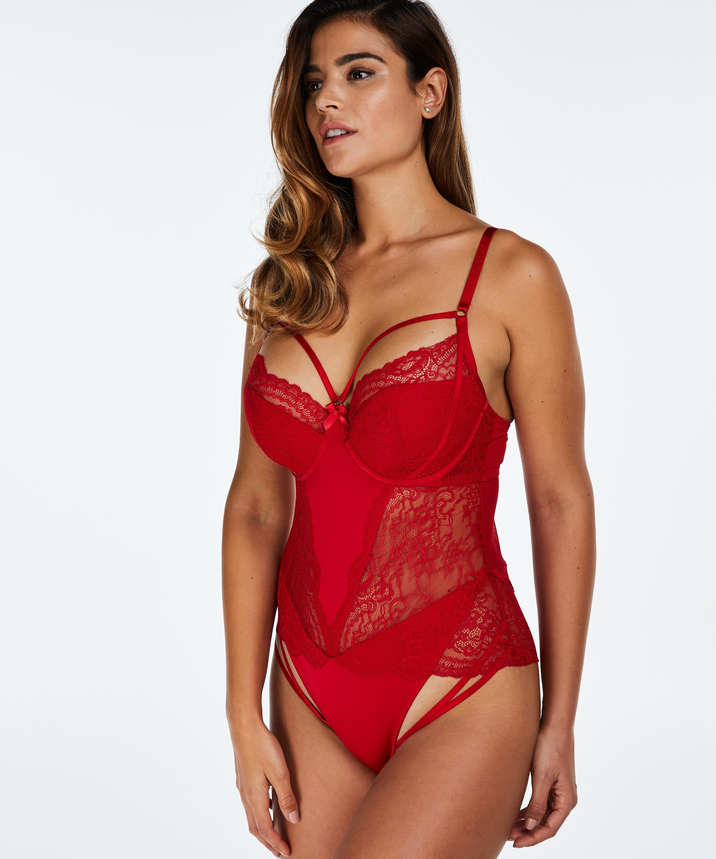 valentijn rode lingerie body