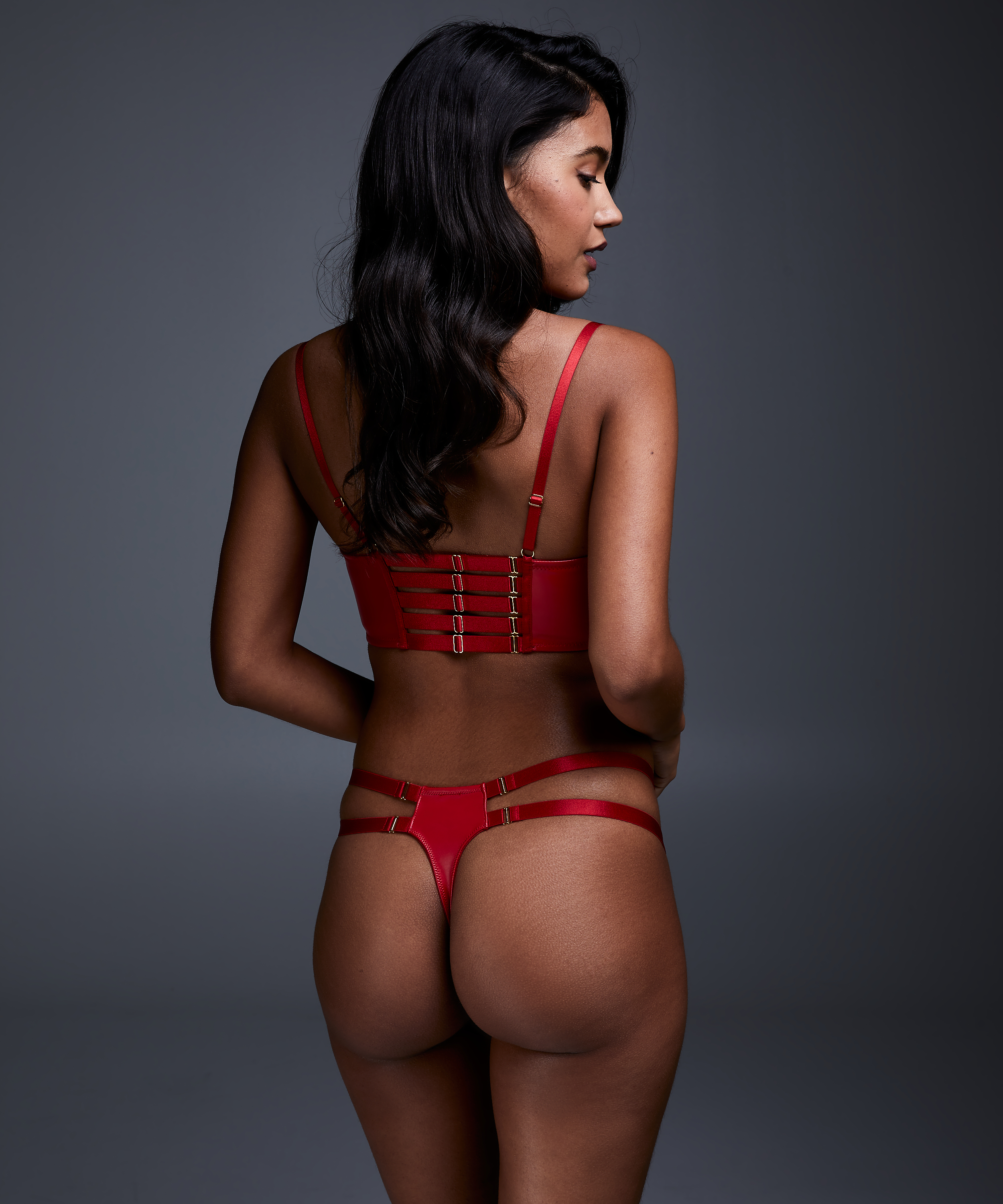Voorgevormde longline push-up beugel bh Kennedy, Rood, main
