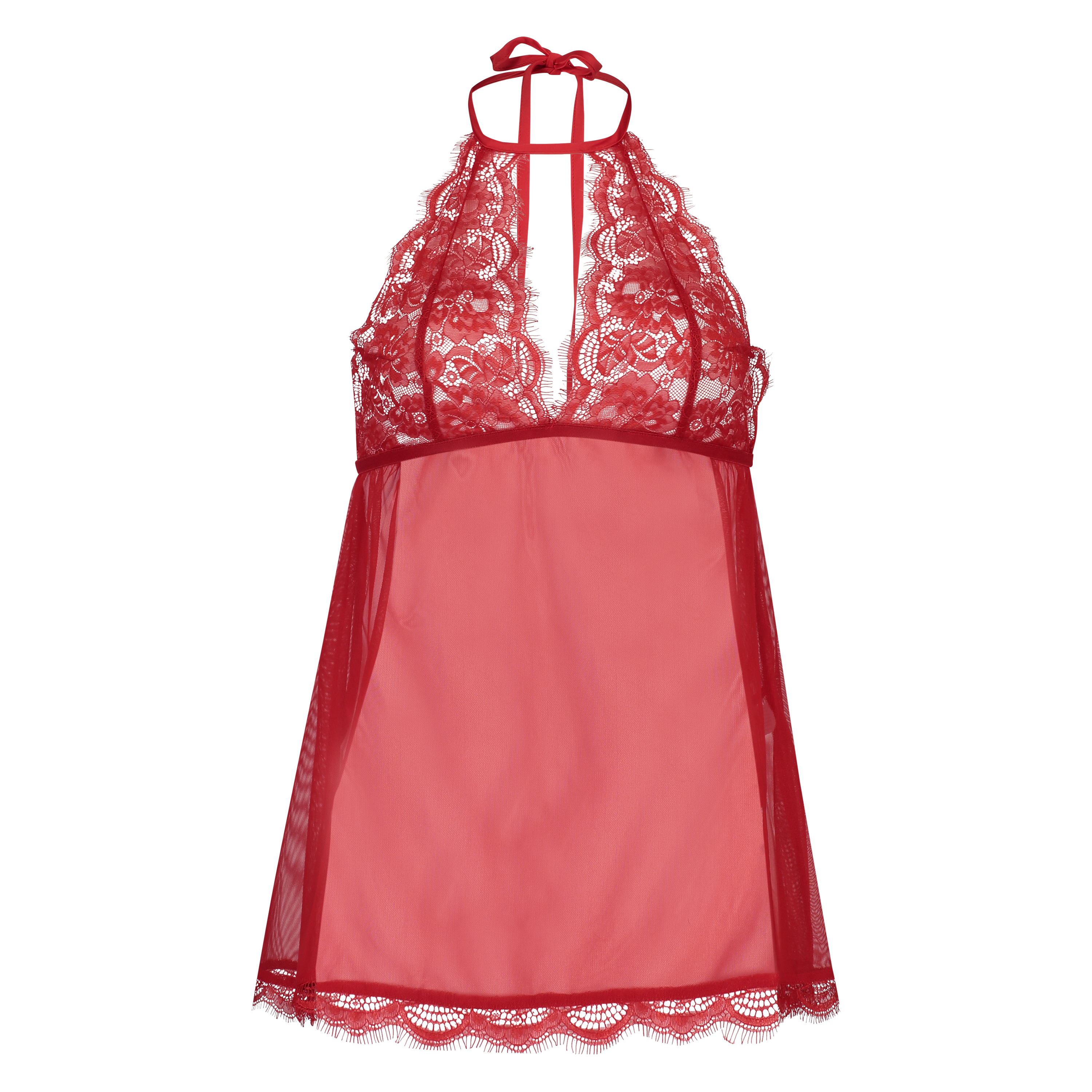 Baby doll Halter lace, Rood, main