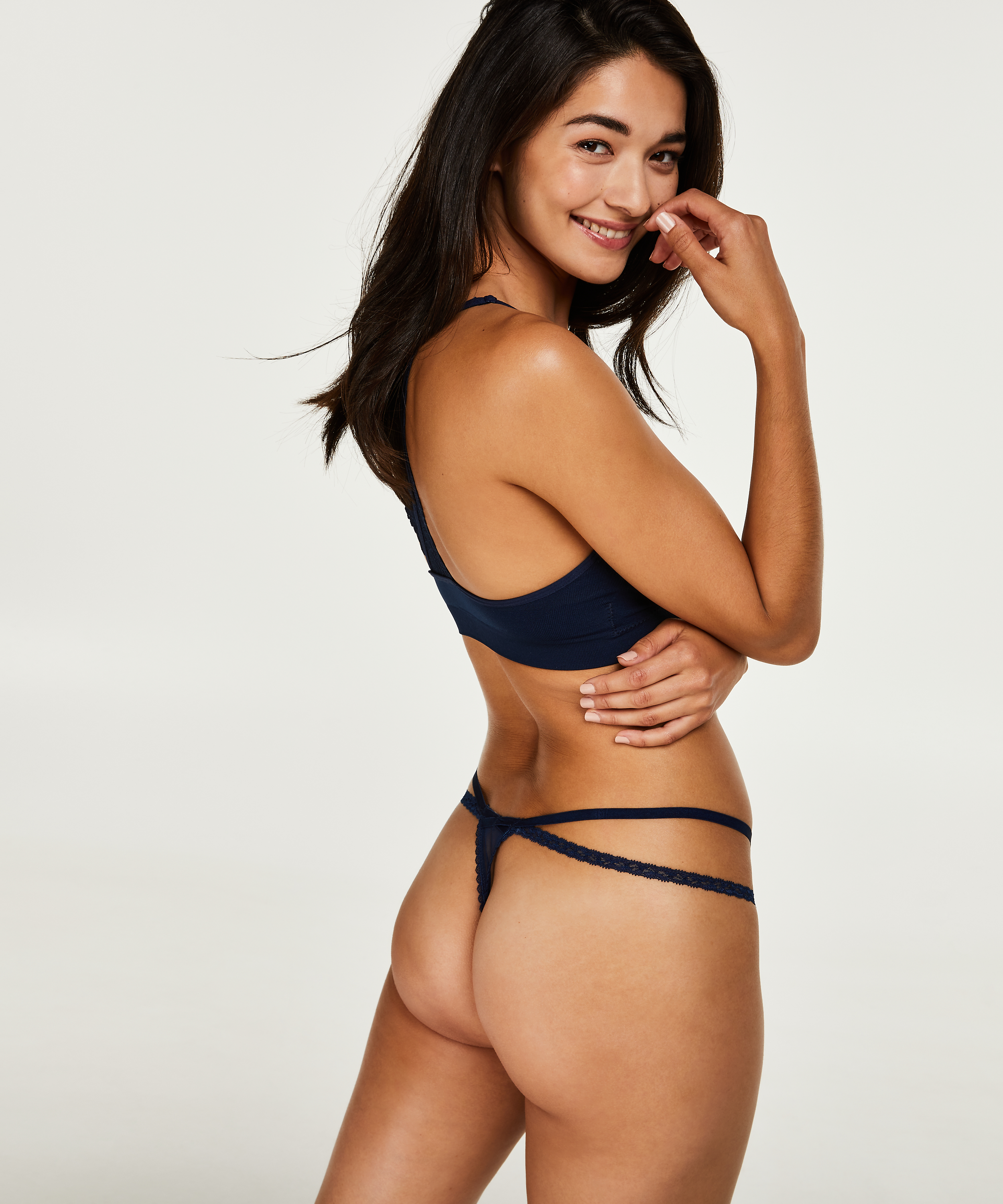 Tanga string Devon, Blauw, main