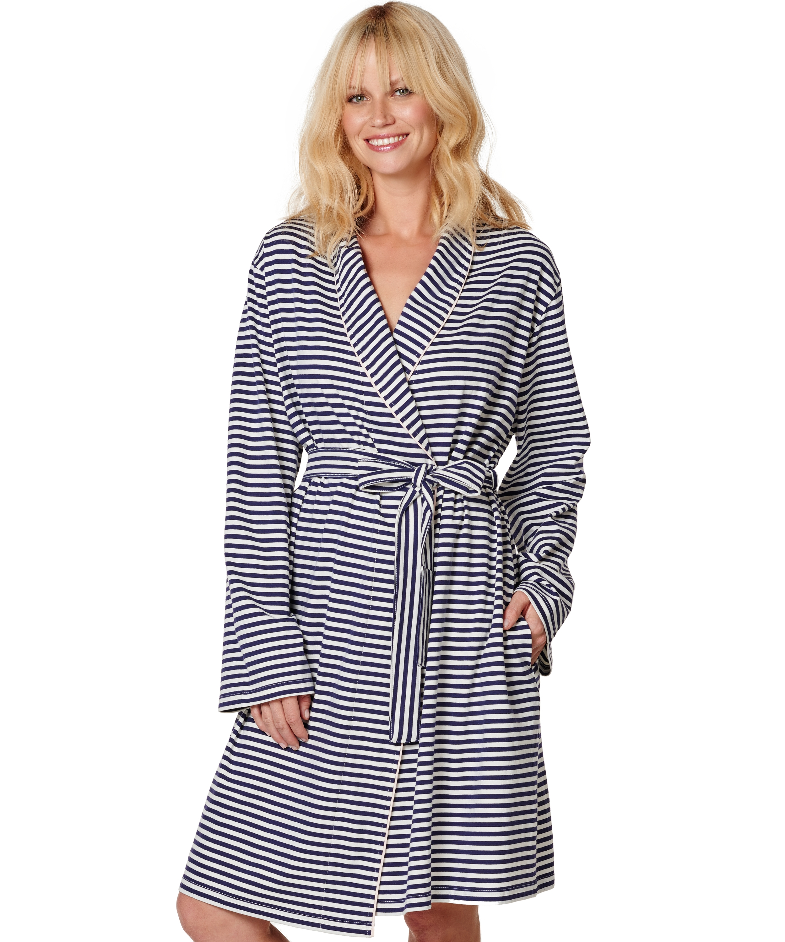 Bathrobe Jersey Robe, Blauw, main